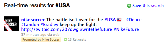Twitter Launches Promoted/Sponsored Tweets Before USA World Cup Game