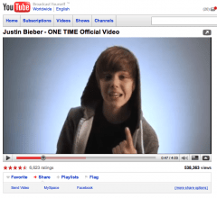 Justin Bieber YouTube Videos attacked by Hacker Group