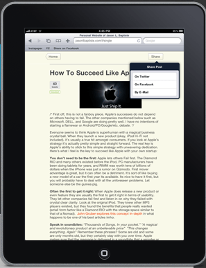 Need To Make Your WordPress Blog iPad Friendly? There's A Plugin For That!