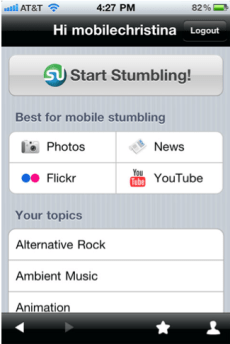 StumbleUpon iPhone App