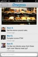 Foursquare Photos with commenting