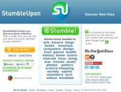 StumbleUpon Website Screenshot