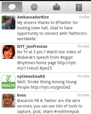 Google Android Twitter App