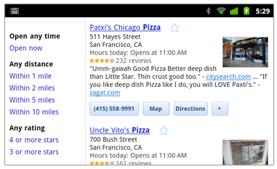 Google Mobile Search Now Has Filtering Options For Mobile Places Results