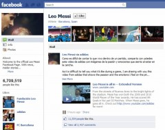 Leo Messi Facebook Page