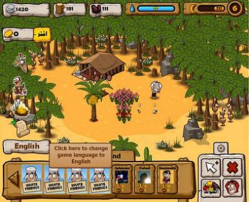 Happy Oasis - Facebook Game Screenshot