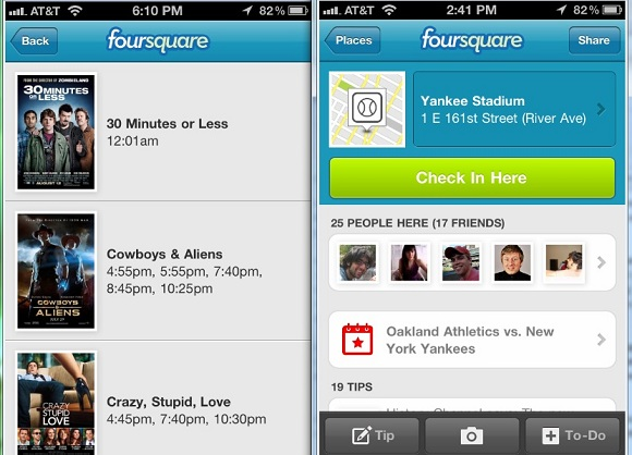 Foursquare Events Checkin Screenshot