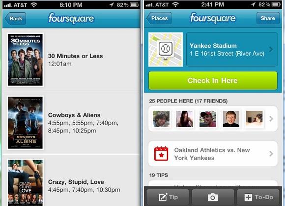 Foursquare Events Checkin Screenshot