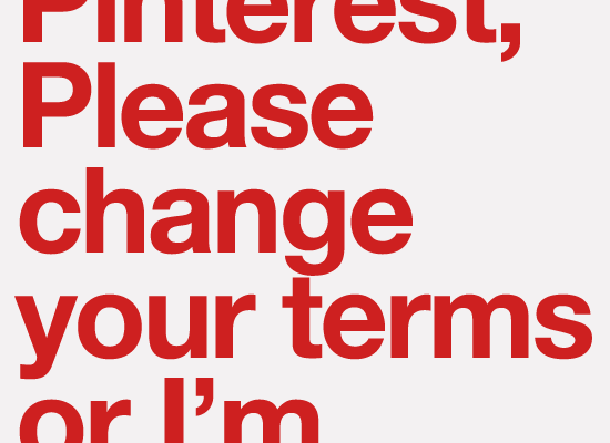 Pinterest Listens to Users and Revises Terms and Conditions