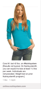 Pinterest Ads for Nutrisystem