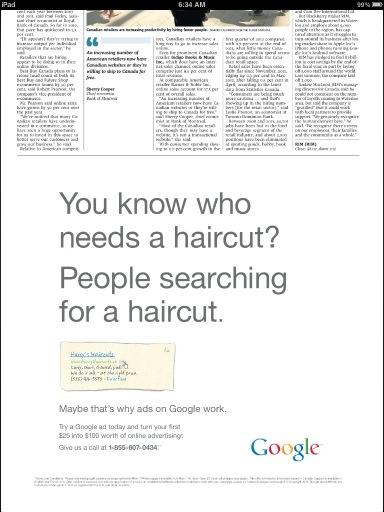 Google Newspaper Ad Attacks Newspaper Ads