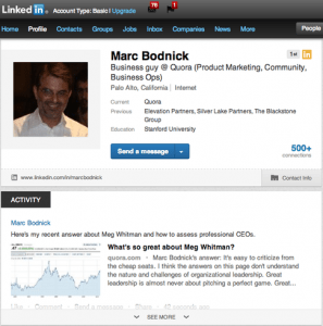 Quora Adds LinkedIn Sharing