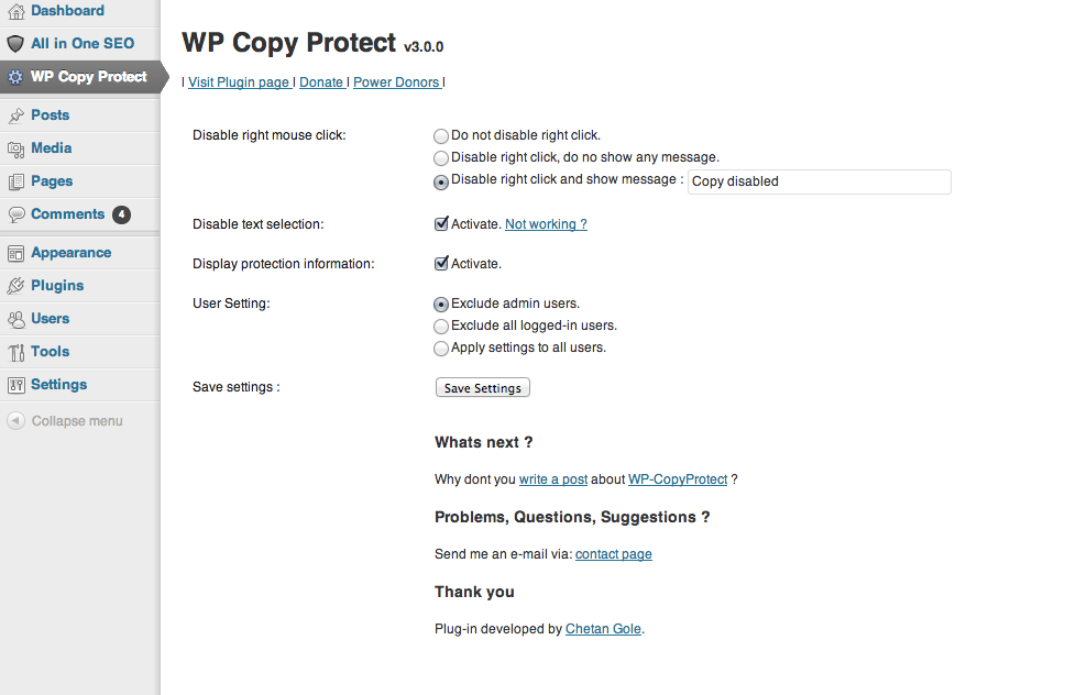 wp copy protect - WordPress Sağ Tık ve Kopyalama Engelleme