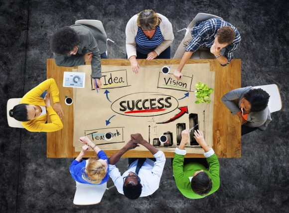 Multi-Ethnc Group of People in a Meeting and Success Concepts