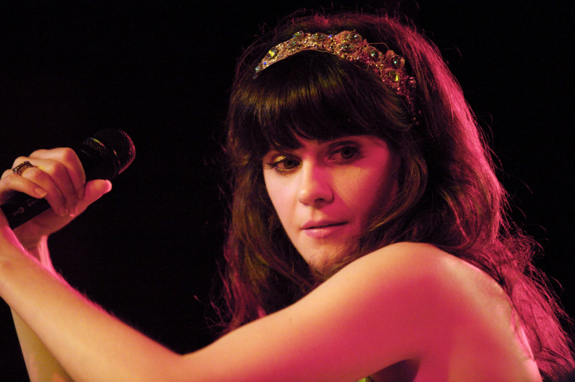 Actress, entertainer, and person not currently married to Ben Gibbard, Zooey Deschanel.