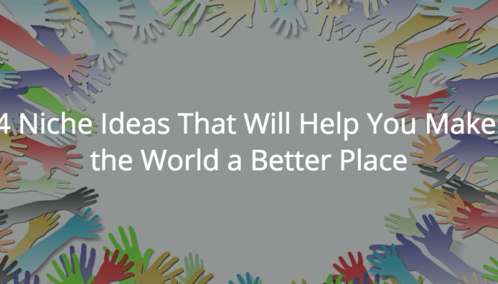 4 Niche Ideas That Will Help You Make the World a Better Place