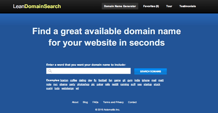 choose domain name tool