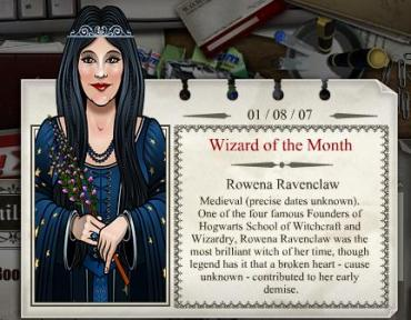 Rowena Ravenclaw, bruja del mes en JKRowling.com
