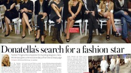 Emma Watson, junto a Donatella Versace en el Evento de Moda 'Fashion Fringe'
