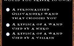 Revelada Nueva Encuesta en el Website Oficial del 'Parque Temático de Harry Potter'