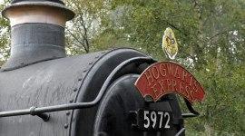 Fotografías del Expreso Hogwarts para 'Harry Potter y las Reliquias de la Muerte'