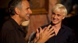 Fotografías de Tom Felton en el webcast sobre el Parque Temático de Harry Potter