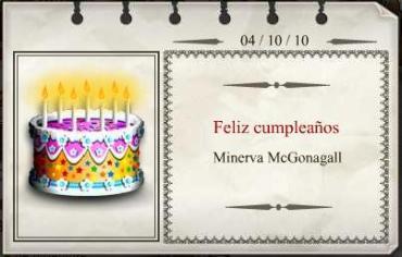 Feliz Cumpleaños, Minerva McGonagall!