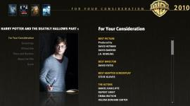 'Las Reliquias, Parte I', Postulada por Warner Bros. para 13 Categorías en los Premios Oscar 2011
