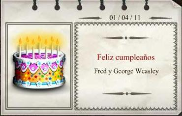 Feliz Cumpleaños, Fred y George Weasley!