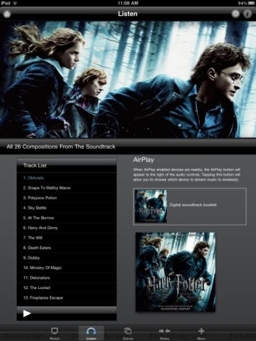 'Harry Potter y las Reliquias de la Muerte, Parte I' Ya Disponible para iPad, iPhone y iPod