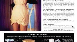Emma Watson Habla de 'Harry Potter', sus Proyectos, y su Kit de Maquillaje con la Revista 'Hello!'