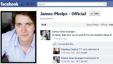 James Phelps Revela su Nueva Página Oficial en 'Facebook'