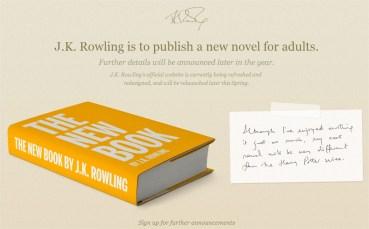 Website Oficial de JK Rowing se Actualiza tras Anuncio de su Próxima Novela