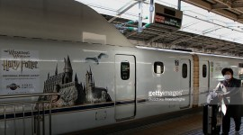 Fotografías del Tren Bala de Harry Potter en Japón