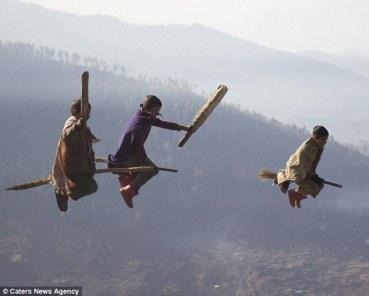 Impactantes imágenes de un juego de Quidditch en los Himalayas