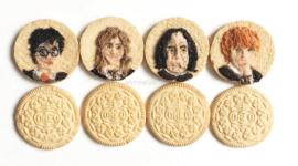 Artista lleva el 'food art' al nivel máximo creando Oreos de Harry Potter