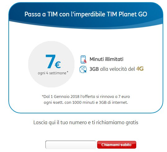 passa a TIM Planet Go