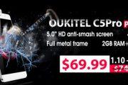 Oukitel C5 Pro lo smartphone più economico con 4G LTE e 2GB di RAM