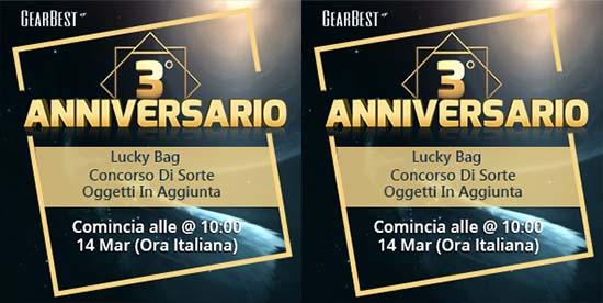 Terzo anniversario Gearbest