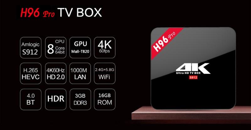 sconto per tv box android h96 pro