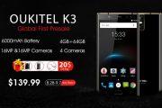 OUKITEL K3: iniziano ufficialmente le prevendite! In arrivo lo smartphone professionale