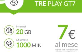 Offerta Tre Italia: Play GT7 con 20 Giga e 1000 minuti!