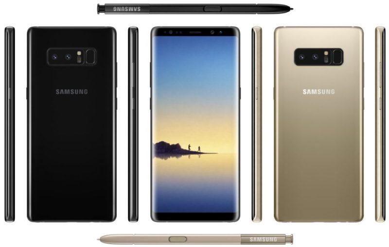 Aggiornamento Galaxy Note 8