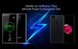 OUKITEL K3 sfida iPhone 7 Plus: chi la spunta in termini di autonomia? Filmato esclusivo