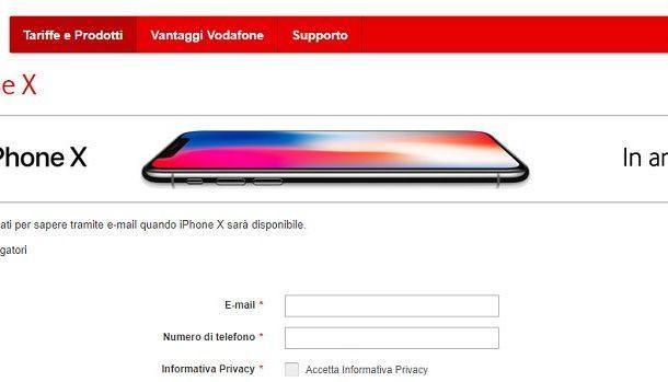 iPhone X: ecco tutte le offerte di Vodafone