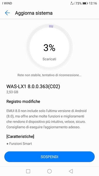 Huawei P10 Lite brand Vodafone: arriva Oreo 8.0 sul territorio italiano