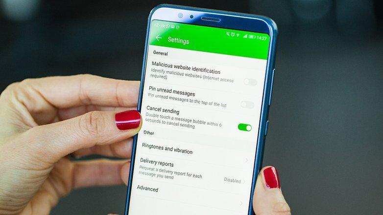 Come annullare invio SMS (in caso di ripensamenti) su Honor 10