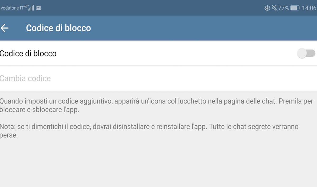 conversazione telegram