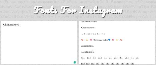 Comescrivere con font diversi nella biografia di Instagram