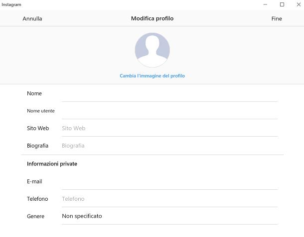 Come cambiare nome su Instagram dall'app